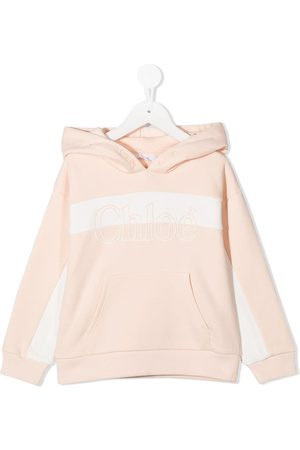 Chloé Embroidered logo hoodie - Neutrals