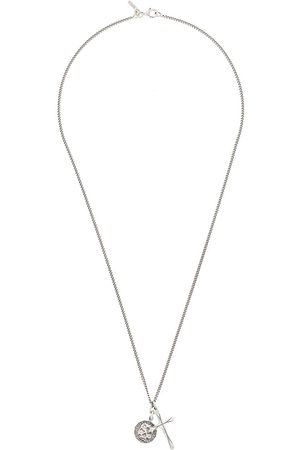 Emanuele Bicocchi Necklaces - Skull pendant chain necklace