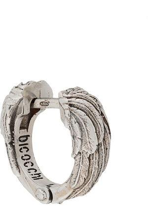 Emanuele Bicocchi Hoop - Wing textured hoop earring