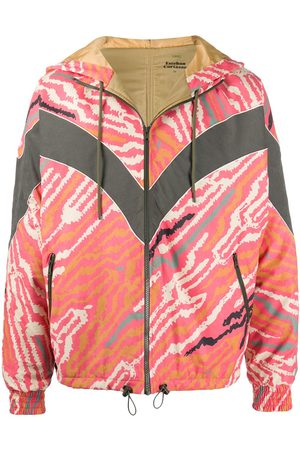 ESTEBAN CORTAZAR Jackets - Zebra-print zip-up windbreaker