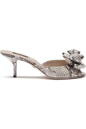 Dolce & Gabbana Women Sandals - Bow-detail sandals - Grey