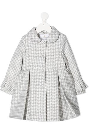Lapin House Houndstooth single breasted coat - Grey