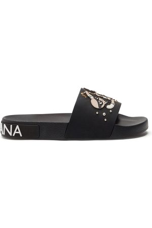 Dolce & Gabbana Studded stylist patch sliders