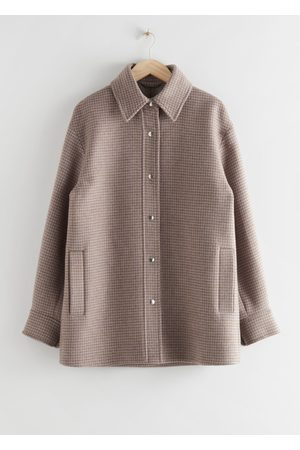 & OTHER STORIES Oversized Recycled Wool Shirt Jacket