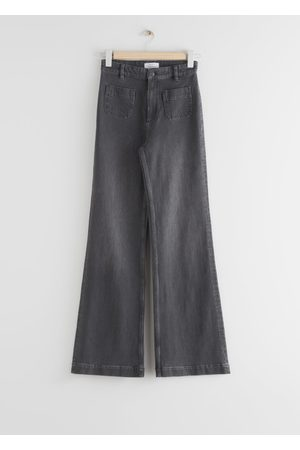 & OTHER STORIES Flared High Rise Jeans - Grey