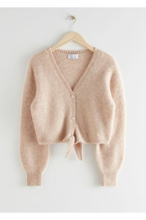 & OTHER STORIES Cropped Boxy Front Tie Cardigan