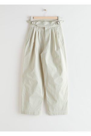 & OTHER STORIES Pleated Vintage Waistband Cotton Trousers