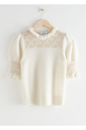 & OTHER STORIES Ruffled Puff Sleeve Knit Top