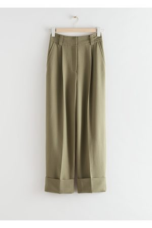 & OTHER STORIES Wide Fold-Up Cuff Trousers