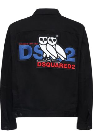 Dsquared2 Men Denim Jackets - Ovo Capsule Logo Print Denim Jacket