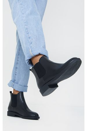 PRETTYLITTLETHING Women Ankle Boots - Faux Leather Basic Chelsea Ankle Boots