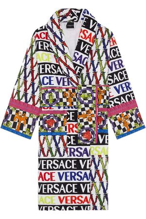 VERSACE Virtus Logo Cotton Bathrobe