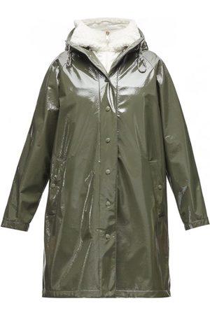 Moncler Women Rainwear - Pott Pvc Hooded Raincoat - Womens - Khaki