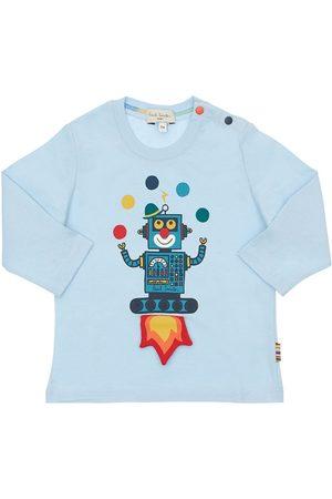 Paul Smith Robot Print Cotton Jersey T-shirt