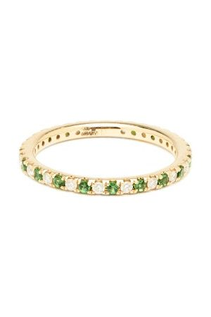 Anissa Kermiche Eternity Diamond, Tsavorite & 14kt Ring - Womens