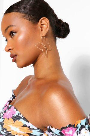Boohoo Womens Cutout Butterfly Earrings - - One Size
