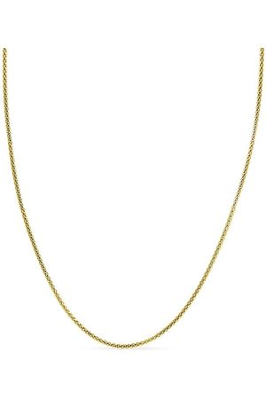 SuperJeweler 14K (6.70 g) Over Sterling Silver 3.5mm Popcorn Chain Necklace