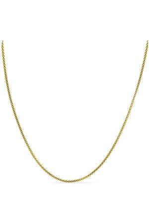 SuperJeweler 14K (8.60 g) Over Sterling Silver 4.9mm Popcorn Chain Necklace