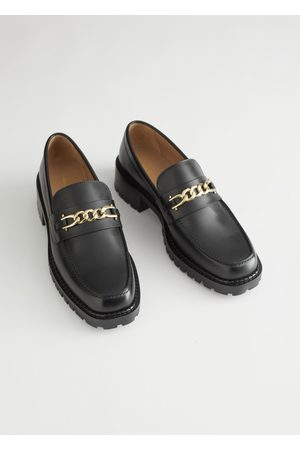 & OTHER STORIES Rope Chain Leather Loafers