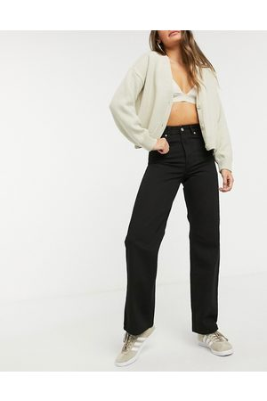 Dr Denim Echo high waist wide leg jeans in