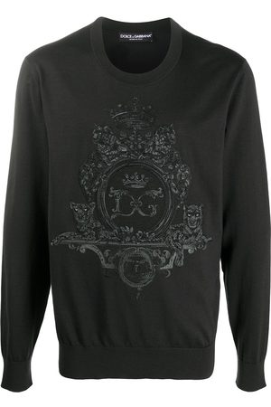 Dolce & Gabbana Embroidered wool-silk sweatshirt