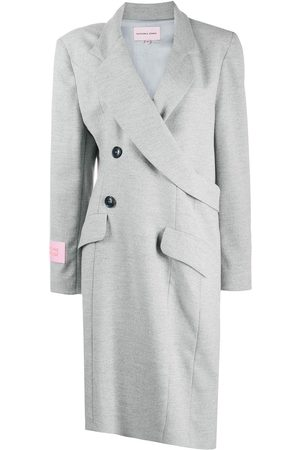 Natasha Zinko Wrap around midi coat - Grey