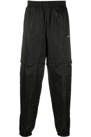 Balenciaga Men Sweatpants - Logo print zipped track pants
