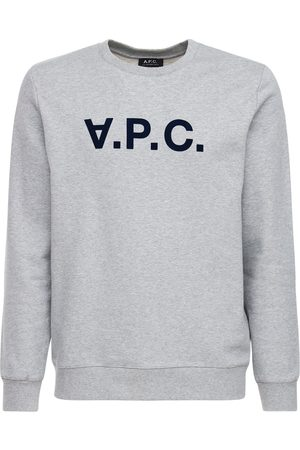 A.P.C Flocked Upside Down Logo Cotton Sweater