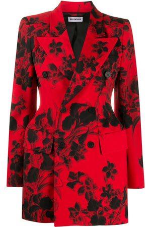 Balenciaga Floral jacquard hourglass blazer