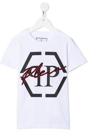 Philipp Plein Round neck Hexagon logo T-shirt