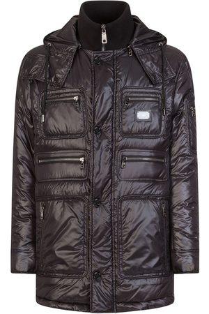 Dolce & Gabbana High neck nylon coat