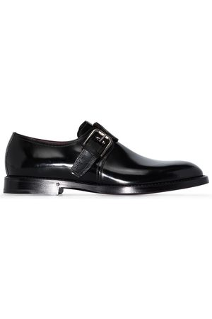Dolce & Gabbana Brushed leather monk shoes