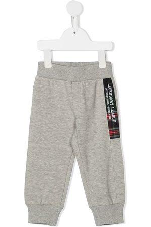 Lapin House Boys Sweatpants - Logo patch track pants - Grey