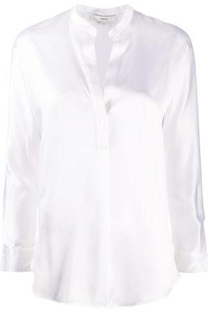 Vince Women Blouses - Open neck loose fit blouse