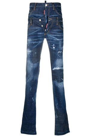 Dsquared2 Men Skinny - Double waistband skinny jeans