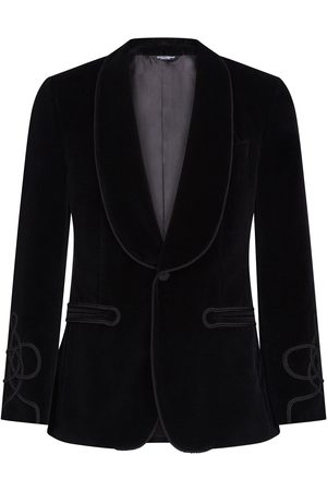 Dolce & Gabbana Men Blazers - Single-breasted tailored tuxedo blazer