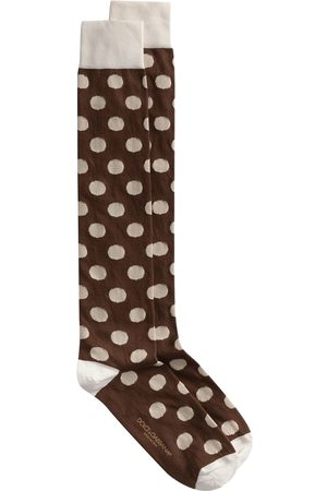 Dolce & Gabbana Men Socks - Polka dot knee-high socks