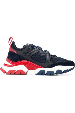 Moncler Men Sneakers - Panelled lace-up sneakers