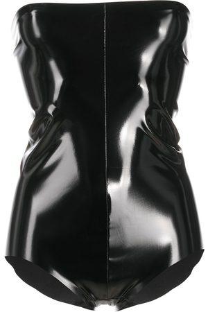 Alchemy Women T-shirts - Strapless vinyl play suit
