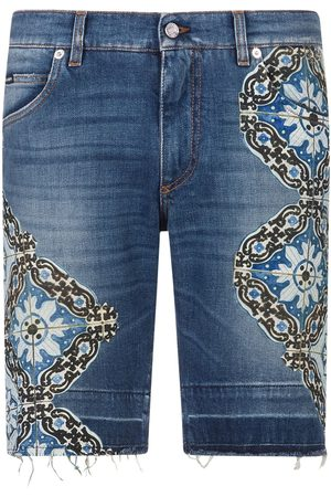 Dolce & Gabbana Embellished denim shorts