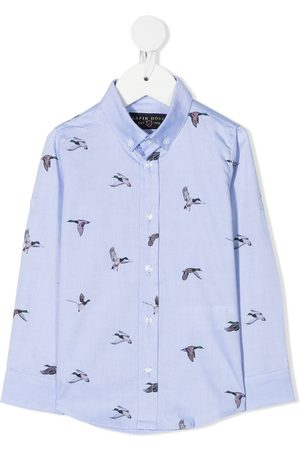 Lapin House Bird motif print shirt