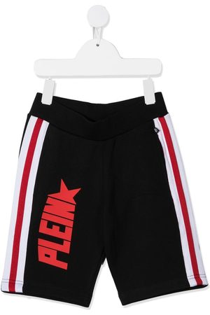 Philipp Plein Logo print jogging shorts