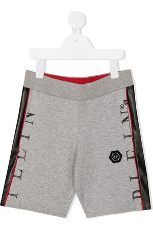Philipp Plein Side stripe track shorts - Grey