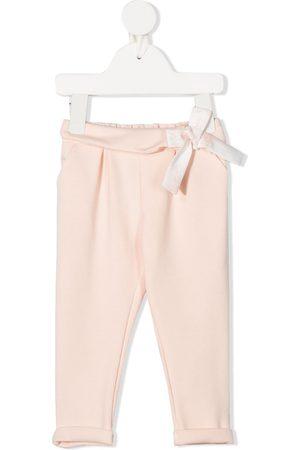Chloé Pants - Bow-detail straight leg trousers