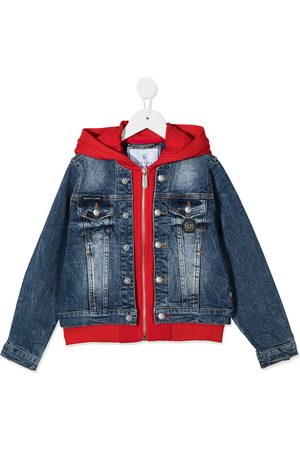 Philipp Plein Teddy bear print denim jacket