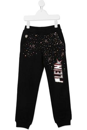Philipp Plein Girls Sweatpants - Embellished logo track pants