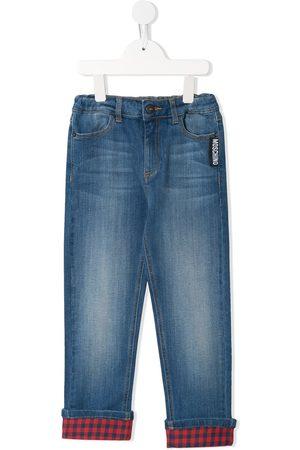 Moschino Kids Turned-up hem jeans