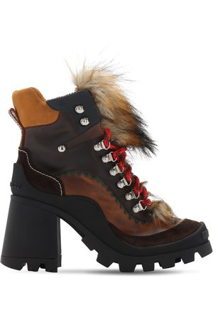 Dsquared2 Women Boots - 100mm Qween Peak Leather Boots