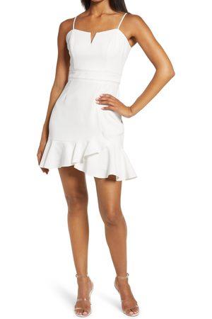 Adelyn Rae Women's Charli Ruffle Hem Minidress