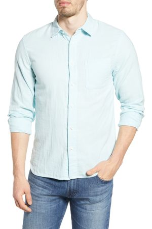 KATO' Men's The Ripper Button-Up Organic Cotton Gauze Shirt
